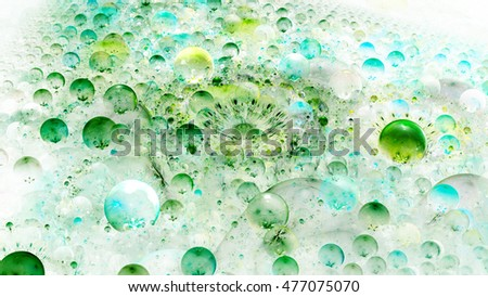 Molecule under microscope. Glade bubbles. 3D surreal illustration. Sacred geometry. Mysterious psychedelic relaxation pattern. Fractal abstract texture. Digital artwork graphic astrology magic
