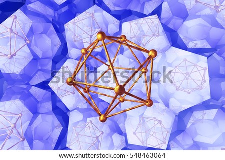 Molecules, abstract molecular and research background. 3D illustration