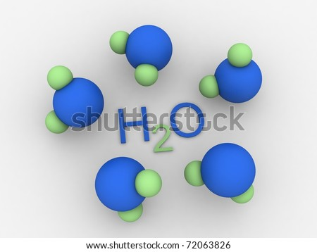 Molecules of water - stock photo