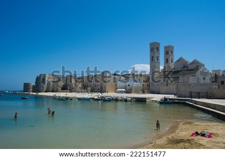 MOLFETTA, ITALY, JUNE 6, 2014: View over harbor part of Molfetta city in Italy.