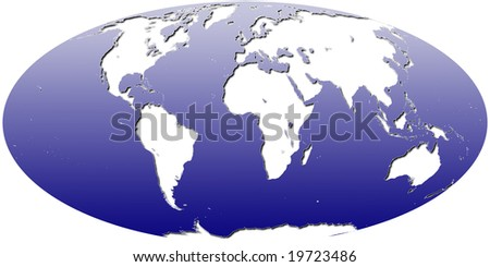 Mollweide world map africa centered stock illustration 19723486 mollweide world map africa centered gumiabroncs Image collections
