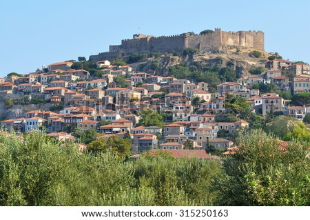 Molyvos historic town,island Lesbos,Greece