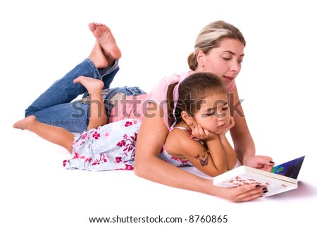 Mom and daughter. - stock photo