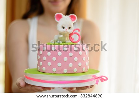 Girl Birthday Cake Stock Images RoyaltyFree Images Vectors