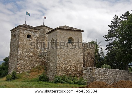 Momchilov grad (Momchilo's fortress) in Pirot, Serbia. It was built in the 14th century by local ruler Momchil.