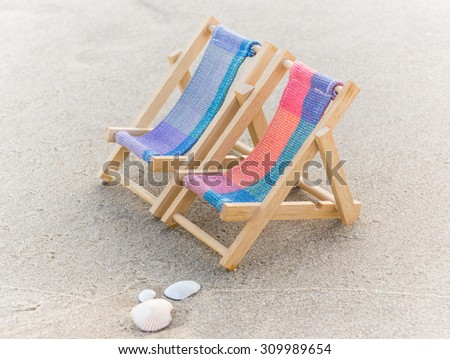 moment of relaxation on the beach