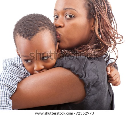 Mommy and her son - stock photo