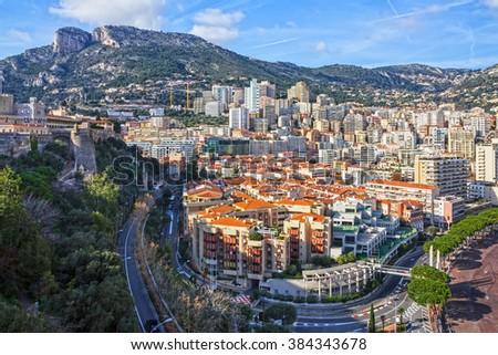 Monaco and Monte Carlo principality. - stock photo