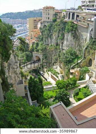 Monaco cityscape - stock photo