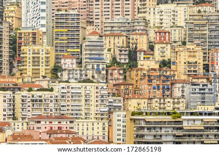 Monaco Cityscape in Southern Europe - stock photo