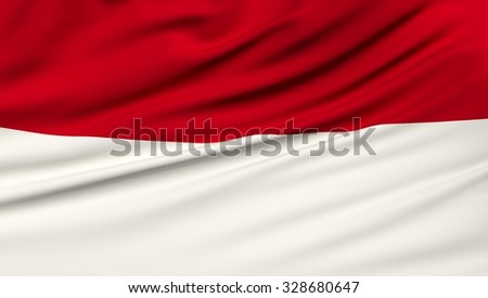 Monaco Flag. 3d illustration