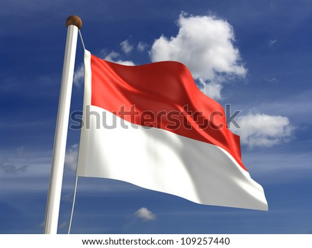 Monaco flag (with clipping path)