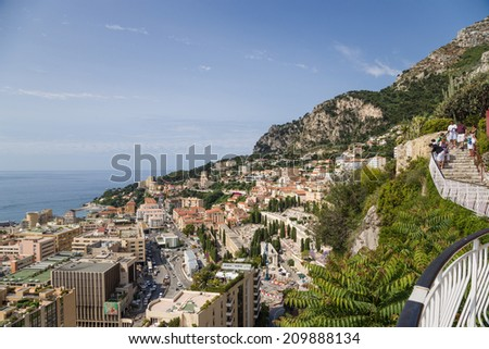 MONACO - JUNE 26, 2013: Photo of city