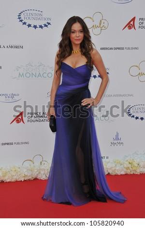 MONACO - MAY 23, 2012: Rose McGowan at the inaugural Nights in Monaco Gala at the Hotel de Paris, Monte Carlo. May 23, 2012  Monaco - stock photo