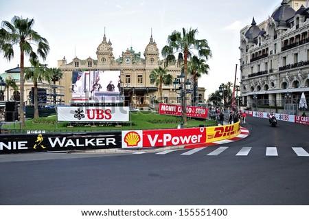 MONACO - MAY 24: Speedway for the races of Formula 1 Grand Prix de Monaco locates near Grand Casino on May 24, 2012, Monaco.                  - stock photo