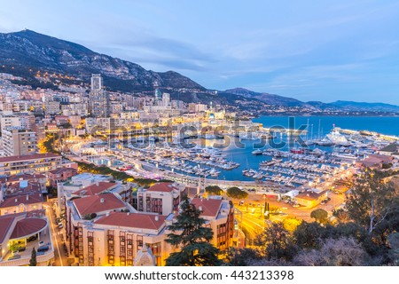 Monaco Monte Carlo harbour french riviera - stock photo