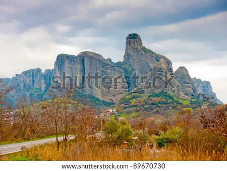 Monasteries on Meteora rocks in central Greece