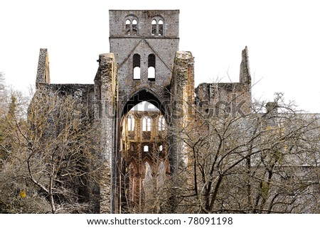 monastery and church ruin  in france