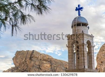 Monastery chapel  in Ma`loula. - stock photo
