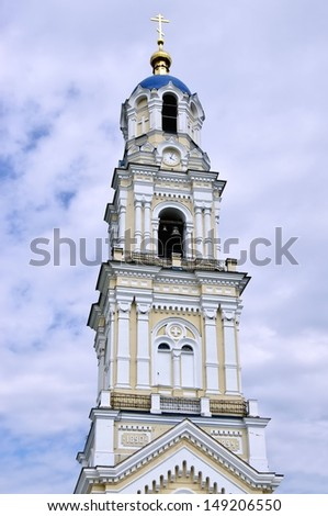 Monastery in Kaluga region. Russia. Gate tower. - stock photo