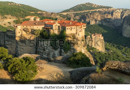 Monastery Meteora, Greece - stock photo