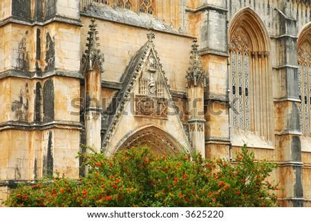 Monastery of Batalha in Portugal - stock photo