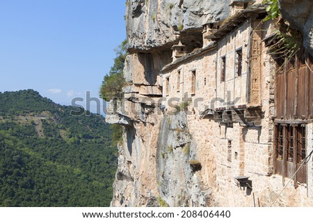 Monastery of Kipina at Epirus mountains, Tzoumerka area, in Greece - stock photo