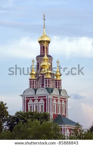monastery of new virgins in moscow - stock photo