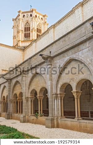 Monastery of Santa Maria de Poblet inCatalonia,Spain. It is UNESCO World Heritage Site.  - stock photo