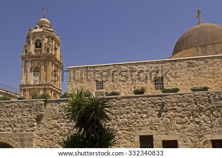 Monastery of the Holy Cross is an Orthodox monastery in Jerusalem and located in the Valley of the Cross.Now it is occupied by monks of the Jerusalem Patriarchate.