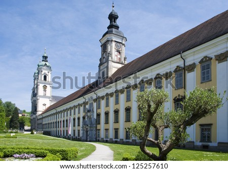 Monastery Sankt Florian in Upper Austria - stock photo