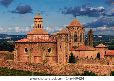 monastery Santa Maria de Poblet, Spain - stock photo