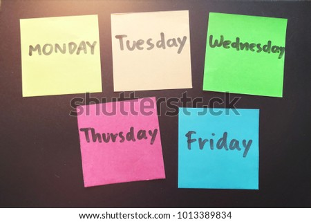Weekdays Stock Images, Royalty-Free Images & Vectors ...