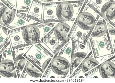 Money american hundred dollar bills. USD background - stock photo