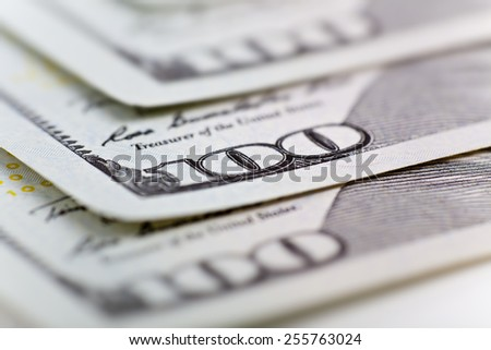 money and business concept - several dollars banknotes - stock photo