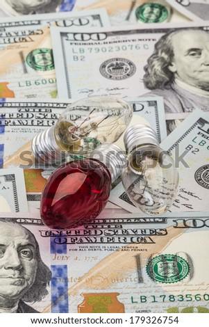 money and energy - stock photo