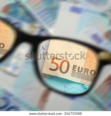 Money and glasses