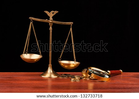 money and justice - stock photo