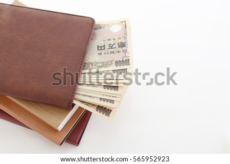 Money and notebooks