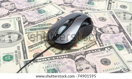 Money and pc mouse - stock photo