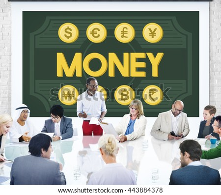 Money Assets Banking Capital Currency Earnings Concept - stock photo