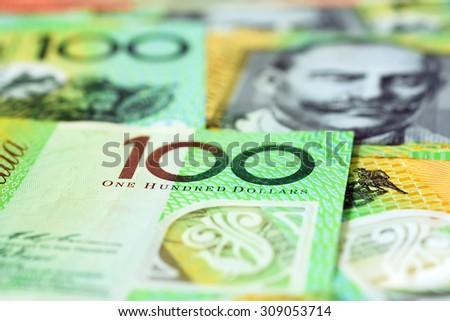 Money,  Australian dollar (AUD) banknotes - stock photo