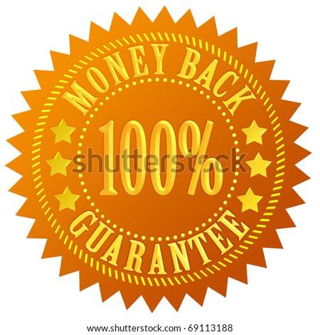 Money back guarantee - stock photo