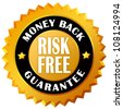 Money back guarantee seal - stock photo