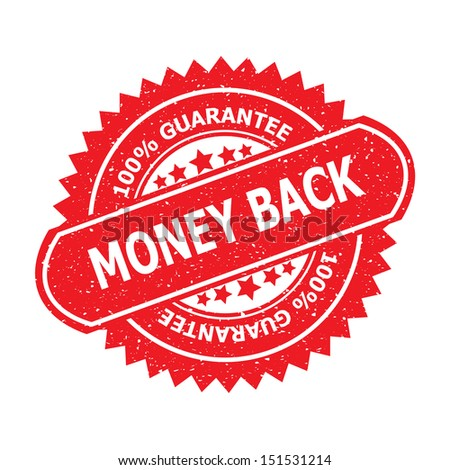 Money back rubber stamp, sticker, tag, label, sign, icon, button, symbol.-jpg format - stock photo