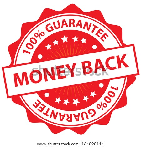 Money back sticker.JPG - stock photo
