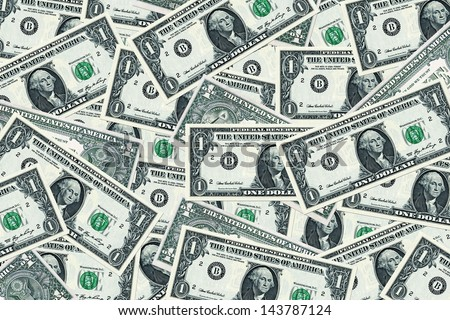 money background - american dollars - stock photo