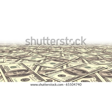 Money background dollar notes - stock photo