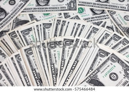 Money background from dollars usa. Business concept one Dollars