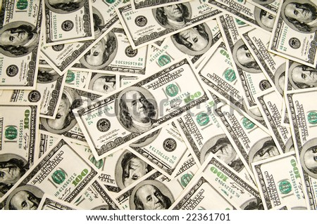 Money background - hundred american dollars - stock photo